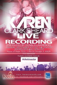Live Recording with Karen Clark Sheard