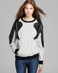 Sweater w Leather detail $298 Rebecca Minkoff